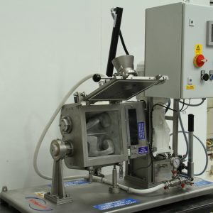 Kneader mixer laboratory scale. Jacketd. Vacuum and heating/cooling options. Bench or trolley mounted.