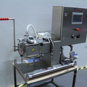 Kneader mixer laboratory scale. Jacketed, vacuum and heating/cooling options, tilt discharge.