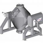 Double cone blender - up to 5000 litres. Homogenous mixing, no shear, tumble blender, total discharge.