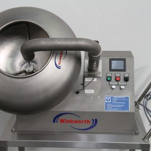 Coating pan, food, pharma, medical, confectionary. All stainless steel.