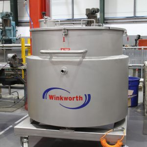 Melt vessel, stainless steel. 500 litres. Load cell option. Mobile.